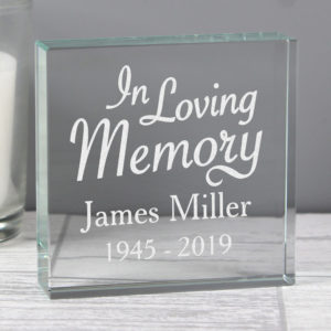 """""In Loving Memory""""  Large Crystal Token"