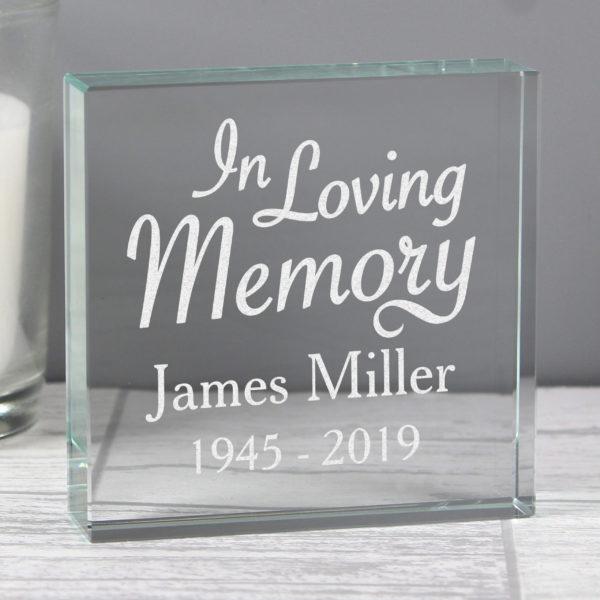 """""In Loving Memory""""  Large Crystal Token"