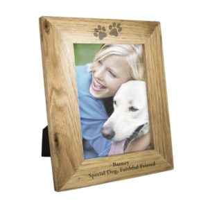 5x7 Paw Prints Wooden Photo Frame