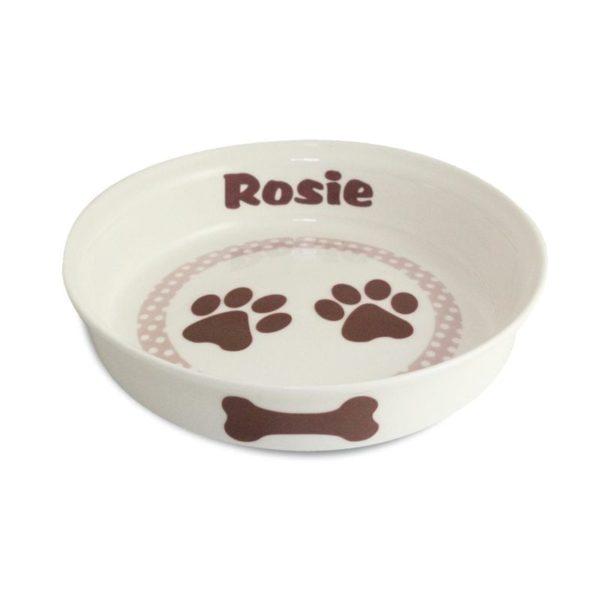 Brown Paws Dog Bowl