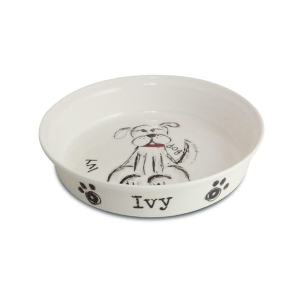 Scribble Dog Bowl