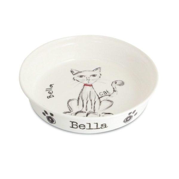 Scribble Cat Bowl
