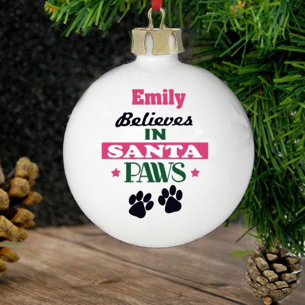 Santa Paws Bauble