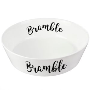 Personalised Any Name 20cm Large Bone China Pet Bowl