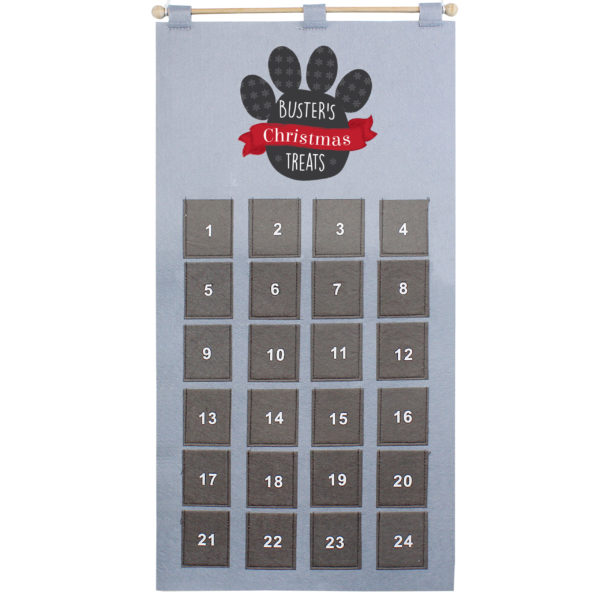 Pet Advent Calendar In Silver Grey