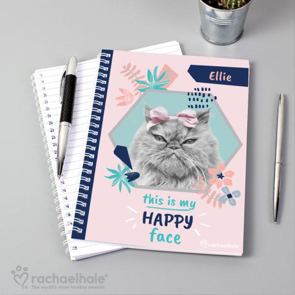 Rachael Hale 'Happy Face' Cat A5 Notebook