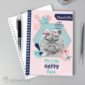 Rachael Hale 'Happy Face' Cat A5 Notebook