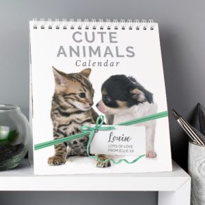 Cute Animals Desk Calendar