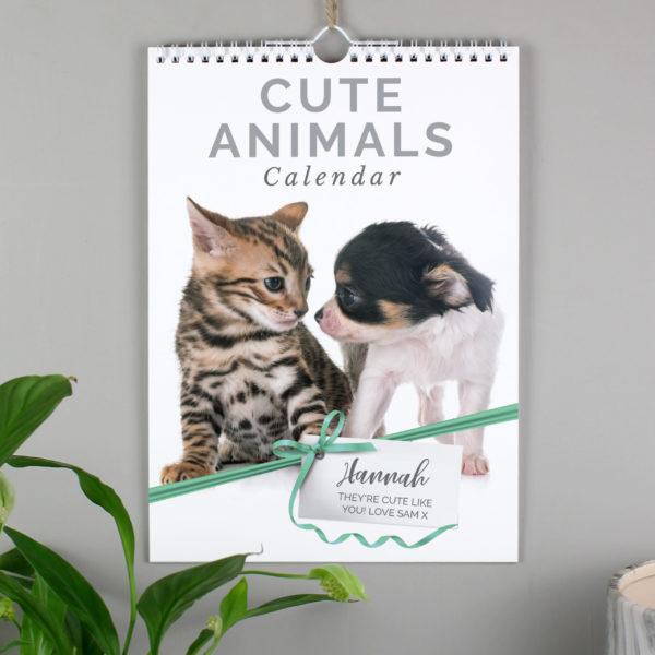 A4 Cute Animals Calendar