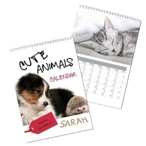 Cute Animals A4 Wall Calendar