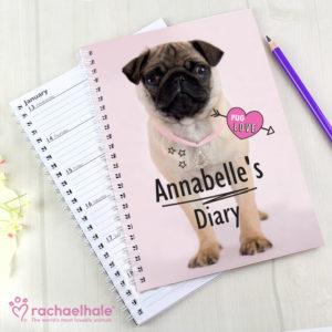 Rachael Hale Doodle Pug A5 Diary