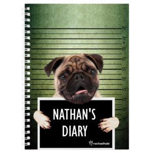 Rachael Hale Doodle Pugshot A5 Diary