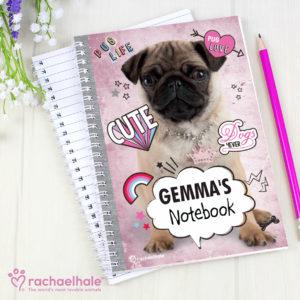 Rachael Hale Doodle Pug A5 Notebook