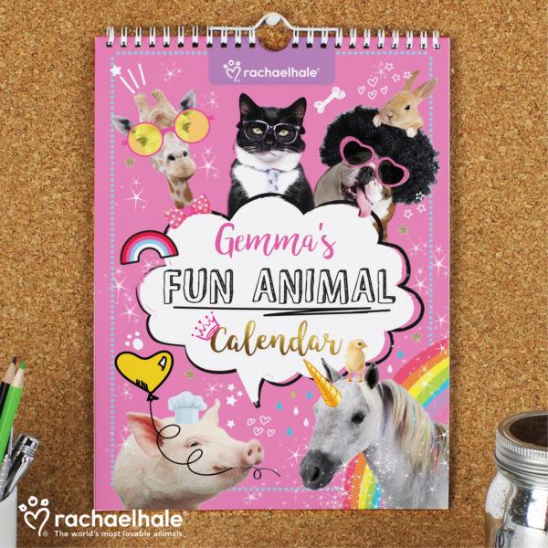 Rachael Hale Fun Animals A4 Wall Calendar
