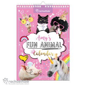 Rachael Hale Fun Animals A4 Wall Calendar