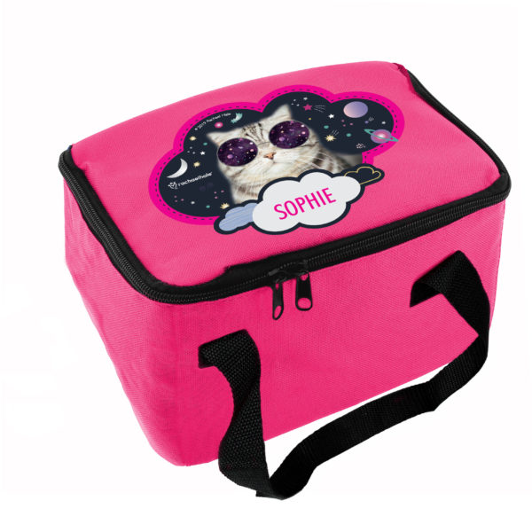 Rachael Hale Space Cat Pink Lunch Bag