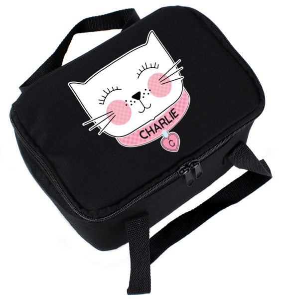 Cute Cat Black Lunch Bag