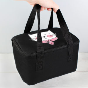 Cute Cat Black Lunch Bag