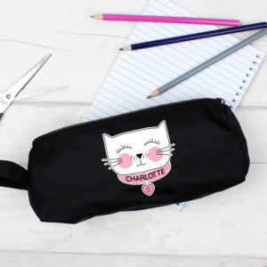 Cute Cat Black Pencil Case