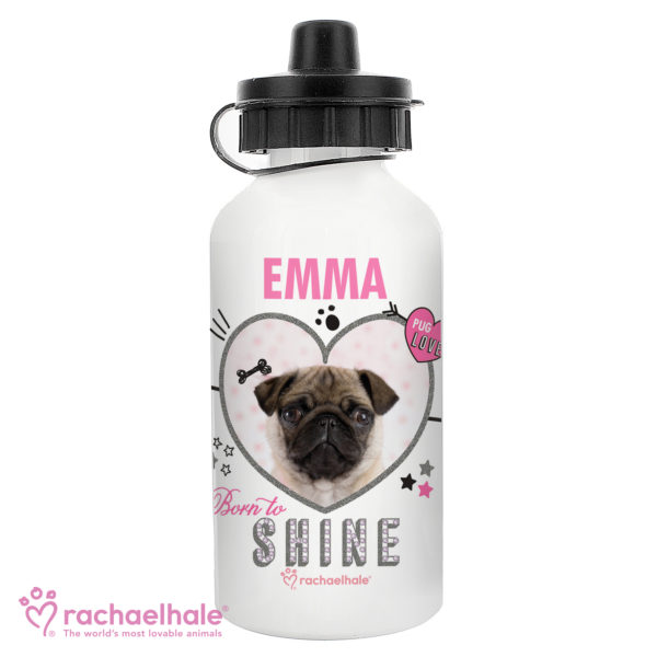 Rachael Hale Doodle Pug Drinks Bottle