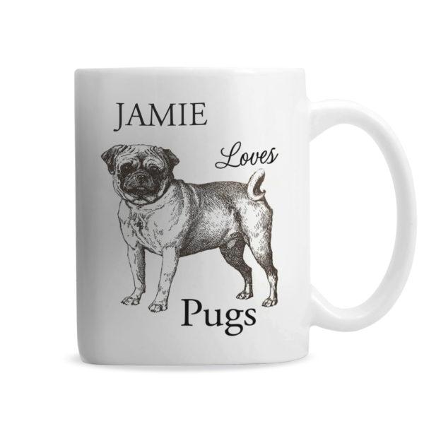 Loves Pugs Mug