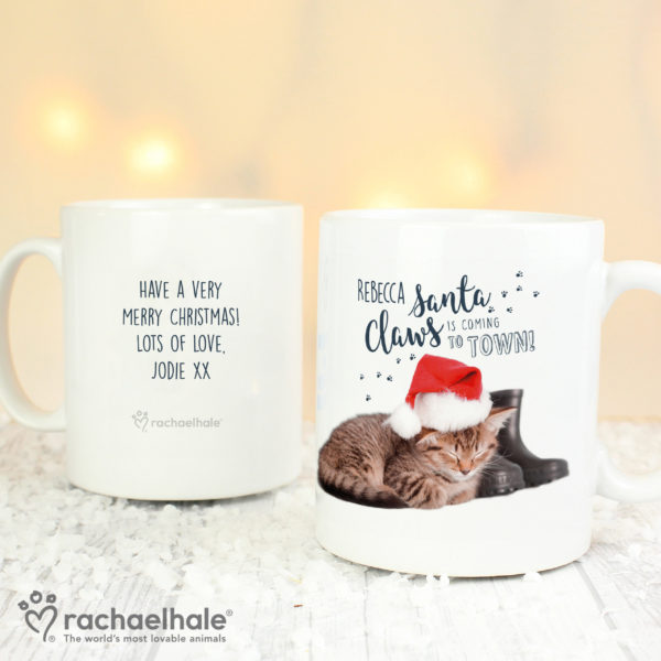 Rachael Hale Santa Claws Christmas Cat Mug
