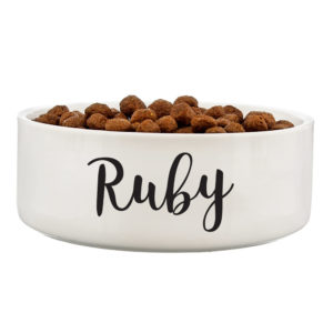 Any Name 14cm Medium White Pet Bowl