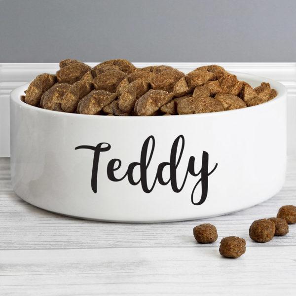 Any Name 14cm Medium White Pet Bowl