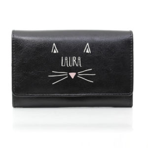 Cat Features Black Purse