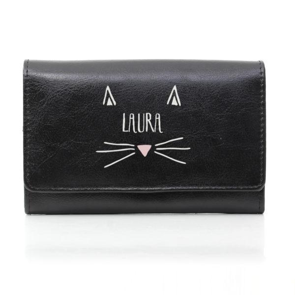 Cat Features Black Purse