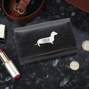 Sausage Dog Black Purse