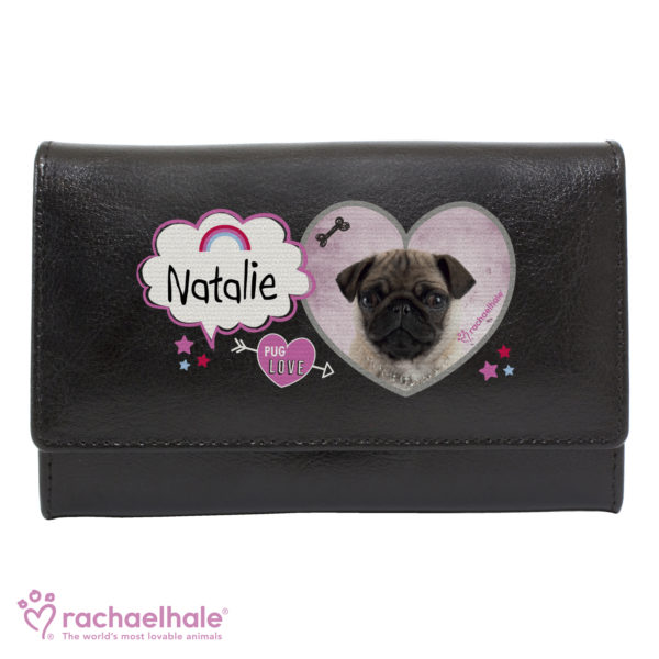 Rachael Hale Doodle Pug Black Purse