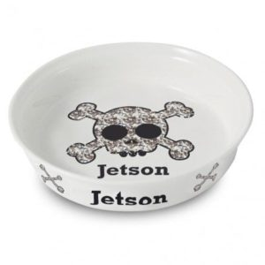 Bling Skull Dog Bowl
