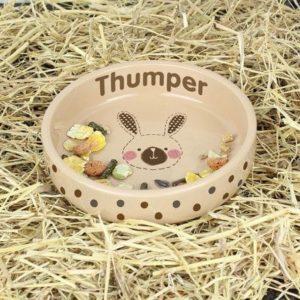 Rabbit Stitch Small Brown Rabbit Bowl