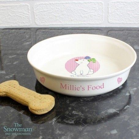 The Snowdog Pink Dog Bowl
