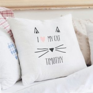 Cat Features Cushion Cover