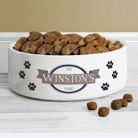 Blue Paws 14cm Medium White Pet Bowl