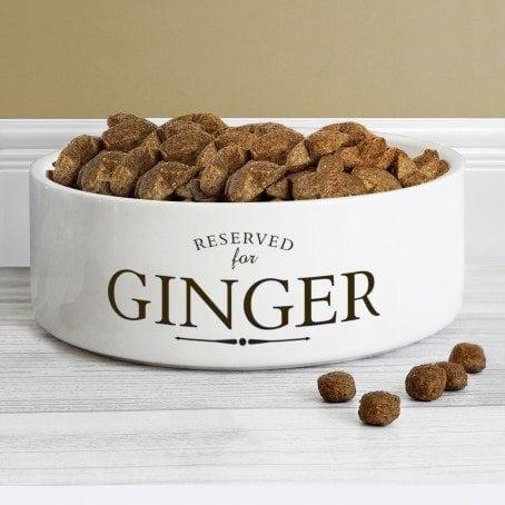 Reserved For 14cm Medium White Pet Bowl
