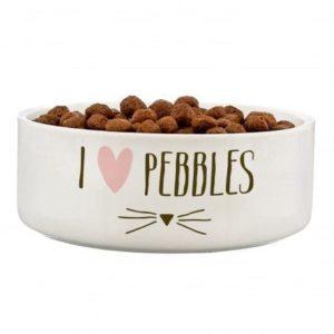 Cat Features 14cm Medium White Pet Bowl