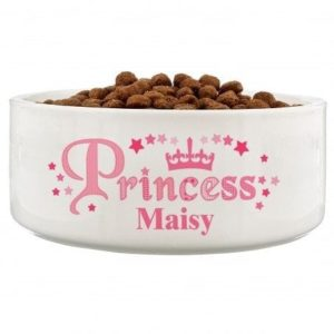 Princess 14cm Medium White Pet Bowl