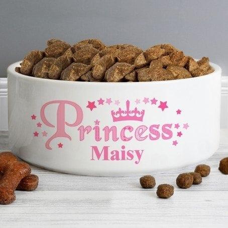 Princess 14cm Medium White Pet Bowl
